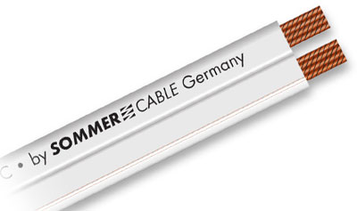 sommer cable sc tribun 225 ofc 2 x 2 5 mm flaches lautsprecherkabel 425 0310. Black Bedroom Furniture Sets. Home Design Ideas